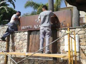 Backlit signage design Hotel Azalea 3