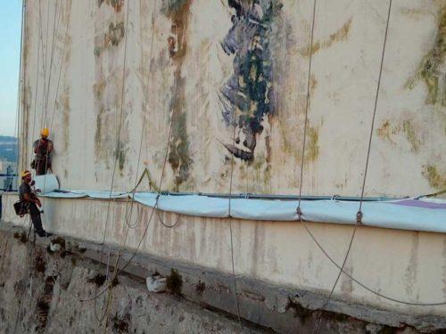 facade canvas printing at gigantia