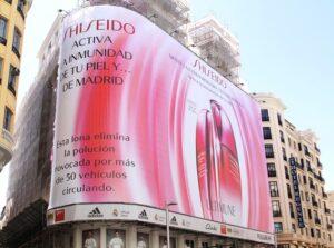 publicidad exterior shiseido